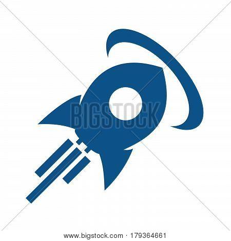 Rocket icon rocket logo rocket emblem on white background.