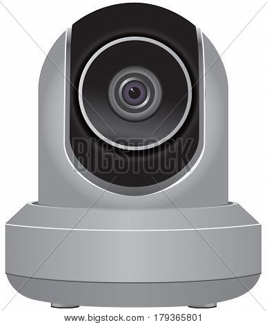 WiFi Wireless IP Security Camera. Vector Illustration