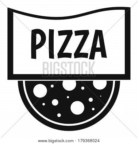 Pizza badge or signboard icon. Simple illustration of pizza badge or signboard vector icon for web