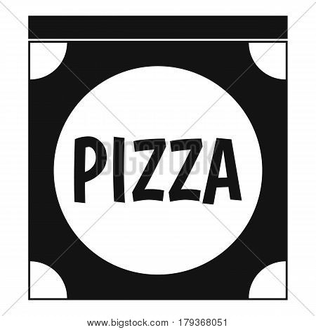 Pizza box cover icon. Simple illustration of pizza box cover vector icon for web