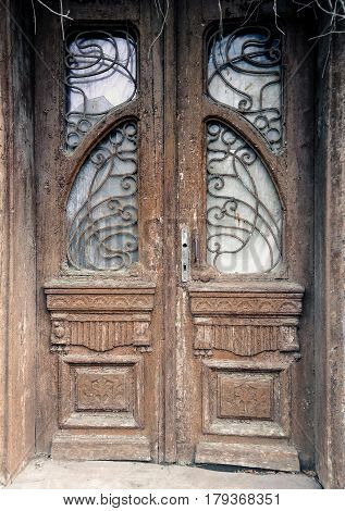 the marvel of architecture old wooden door of the house