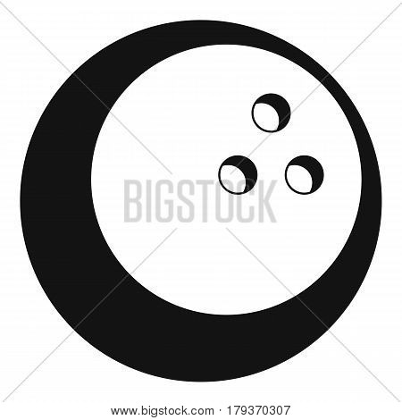 Marbled bowling ball icon. Simple illustration of marbled bowling ball vector icon for web