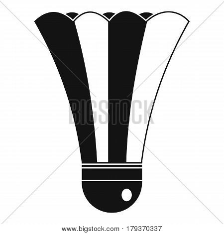 Black and white shuttlecock icon. Simple illustration of black and white shuttlecock vector icon for web