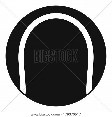 Black and white tennis ball icon. Simple illustration of black and white tennis ball vector icon for web