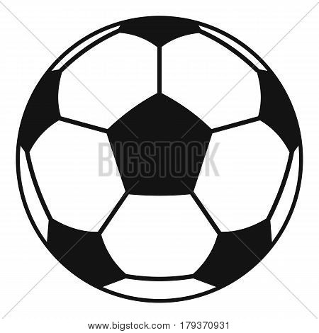 Football or soccer ball icon. Simple illustration of football or soccer ball vector icon for web