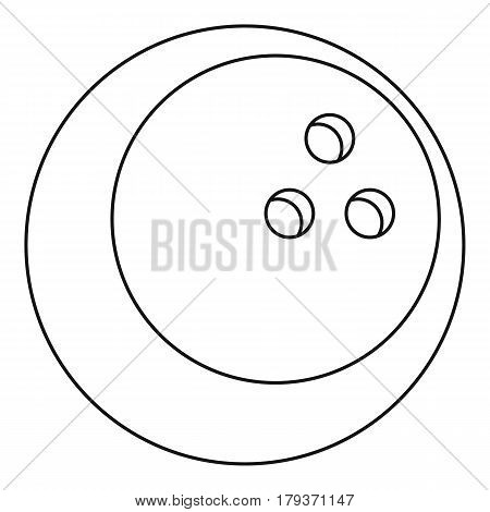 Ball for playing bowling icon. Outline illustration of ball for playing bowling vector icon for web