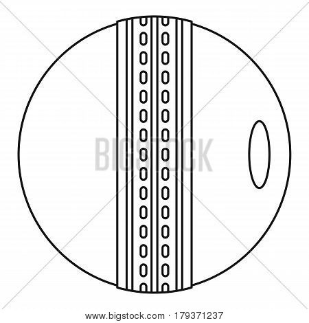 Cricket ball icon. Outline illustration of cricket ball vector icon for web