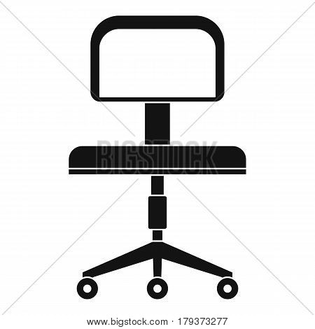 Office chair with wheels icon. Simple illustration of office chair with wheels vector icon for web