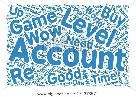 World of Warcraft Accounts Buy And Sell Guide Here text background word cloud concept