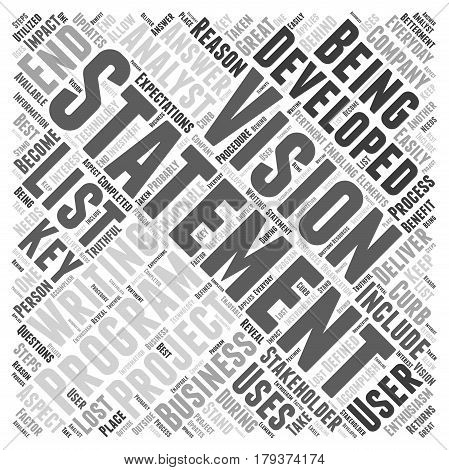 writing a vision statement Word Cloud Concept