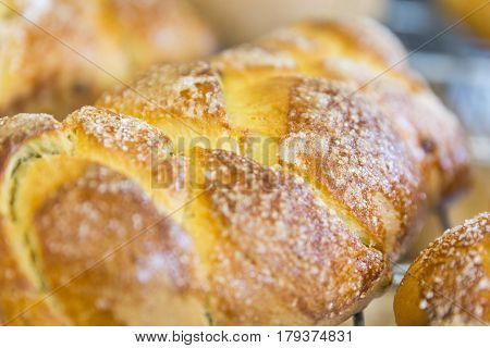 Loafs Of Sweet Easter Breads With Leaven