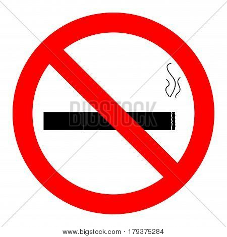 Ban smoking icon. No cigarette sign vector illustration