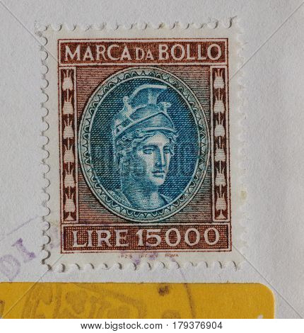 Italian Revenue Stamp In Rome