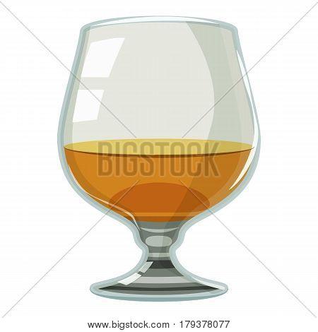 Glass of scotch or whiskey icon. Cartoon illustration of glass of scotch or whiskey vector icon for web
