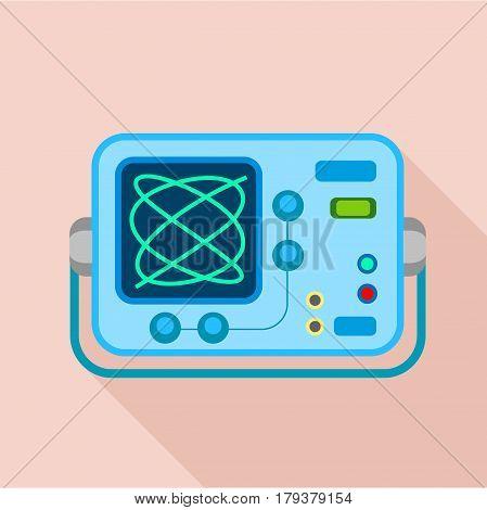 Oscilloscope icon. Flat illustration of oscilloscope vector icon for web