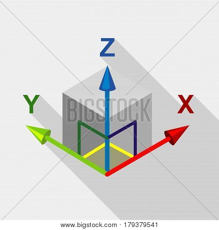 Area or size dimension icon. Flat illustration of area or size dimension vector icon for web