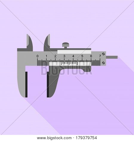 Steel calipers icon. Flat illustration of steel calipers vector icon for web