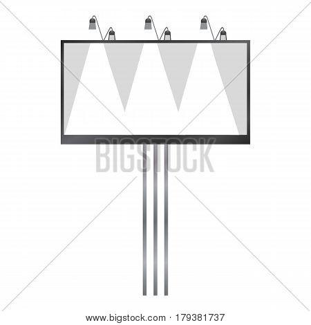 White blank billboard mockup. Realistic illustration of white blank billboard vector mockup for web