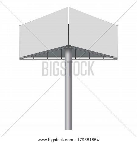 Advertising construction, billboard mockup. Realistic illustration of advertising construction, billboard vector mockup for web