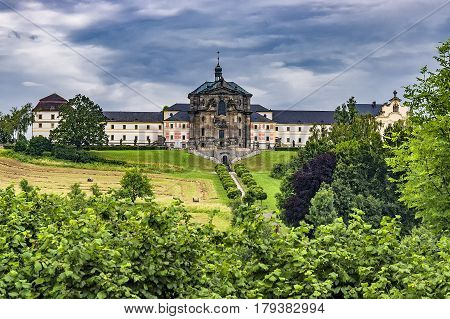 Summer view of chateau Kuks in Czech Republic