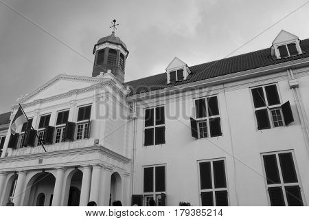 Kota tua Jakarta old city historical building from Dutch era in Indonesia called museum Fatahillah photo
