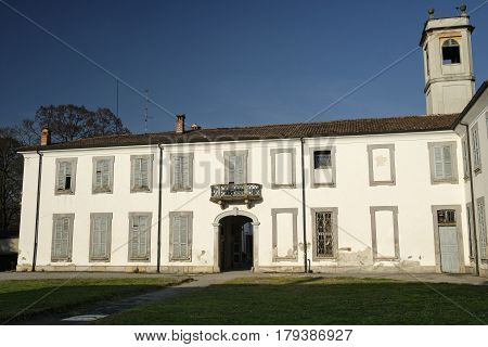 Monza (Brianza Lombardy Italy): exterior of Villa Mirabello historic palace built in 17th century