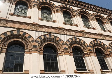 Milan (Lombardy Italy): the palace hosting the Museum of Natural History into the Indro Montanelli Gardens