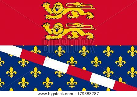 Flag of Eure is a department in Normandy is a Region in the north of France