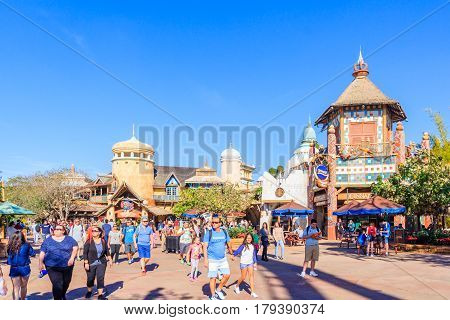 ORLANDO, USA - JANUARY 05, 2017: Adventure Island of Universal Studios Orlando. Universal Studios Orlando is a theme park resort in Orlando Florida.