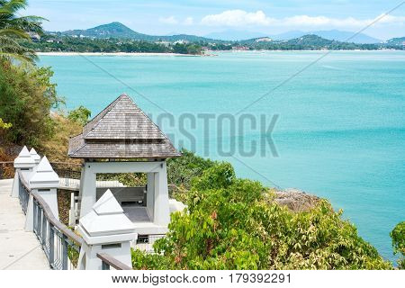 Viewpoint On The Horizon Of Samui Island In Thailand