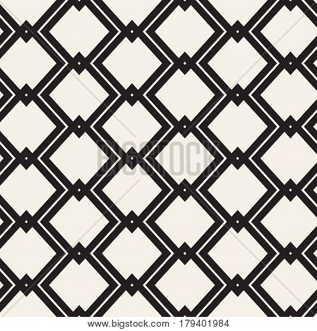 Vector Seamless Geometric Pattern. Abstract Geometric Background Design. Stylish Lattice Texture