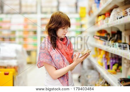 Customer At Groceries Store