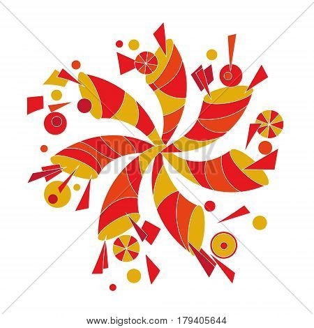 decorative pinwheel in the form of a cornucopia. original vector illustration for multi-purpose use