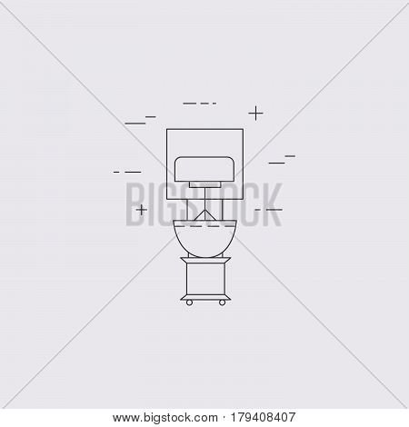 Mixer isolated line icon. Kitchen small small appliances. Restaurant equipment.