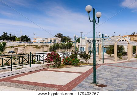 The Central square of Kefalos village, Kos island, Dodecanese, Greece