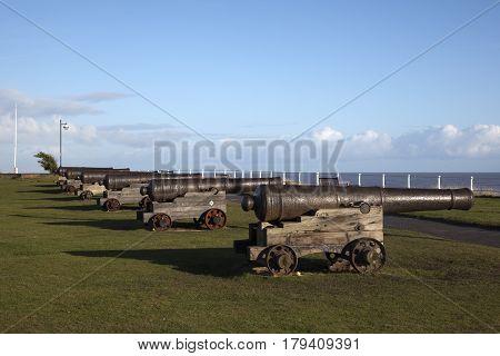 Cannons on Gun Hill Southwold Suffolk England