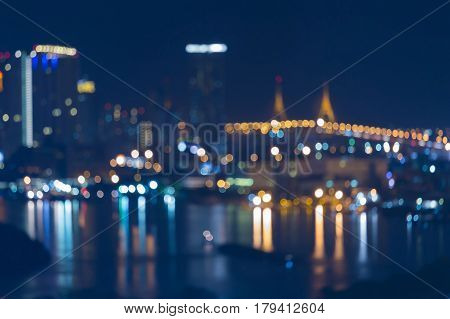 Twilight blurred light city night view abstract background