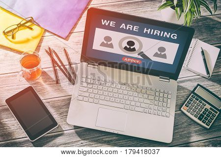 recruitment hiring recruiting recruit hr job creative wanted team announce