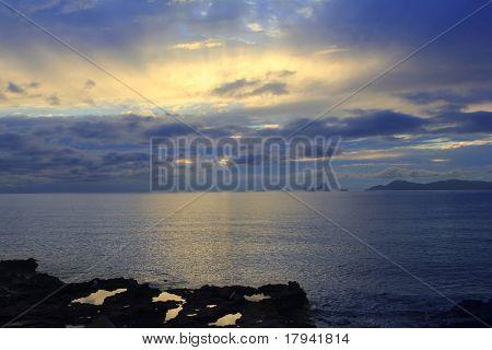 sunset Formentera Ibiza Island Es Vedra horizon Balearic Islands