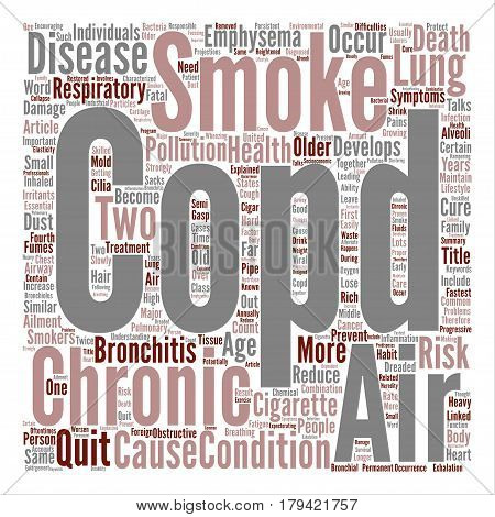 COPD Respiratory Ailment Explained Word Cloud Concept Text Background
