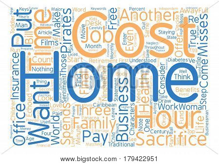 Count The Cost Word Cloud Concept Text Background