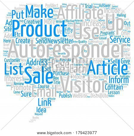 Creative and Profitable Ways to Use Autoresponders Word Cloud Concept Text Background