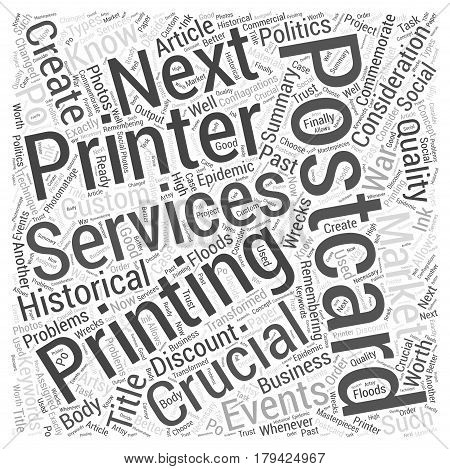 Crucial Considerations about Marketing Postcards Word Cloud Concept