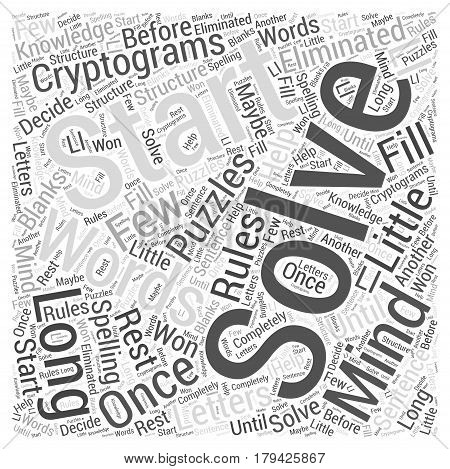 Cryptograms in Mind Puzzles Word Cloud Concept