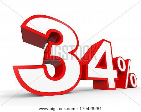 Thirty Four Percent Off. Discount 34 %.