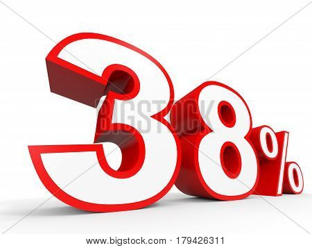 Thirty Eight Percent Off. Discount 38 %.