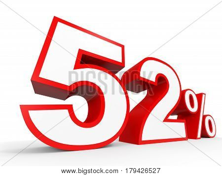 Fifty Two Percent Off. Discount 52 %.