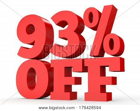 Ninety Three Percent Off. Discount 93 %.