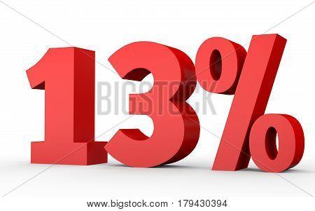 Thirteen Percent Off. Discount 13 %.