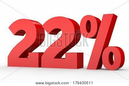 Twenty Two Percent Off. Discount 22 %.